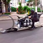 This Crazy Hubless Motorcycle Is Powered By An Airplane Engine