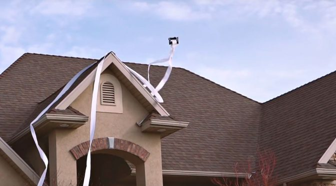 Teal Drones Toilet Paper Drone Prank