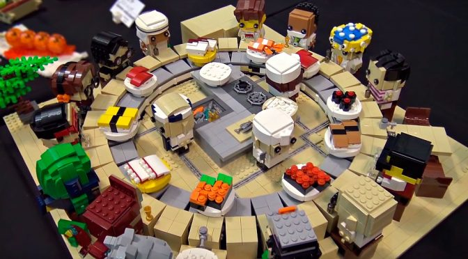 The Beautiful World Of Dr. Peisan LEGO MOC, Sushi Conveyor Included