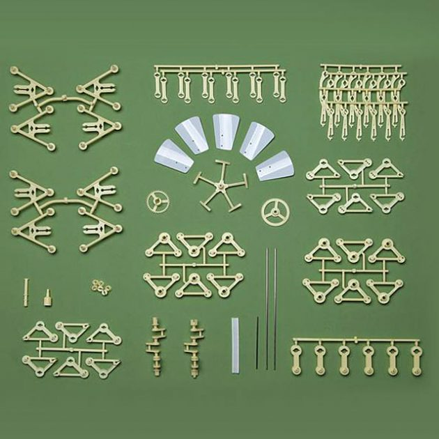 Wind-powered Mini Strandbeest Model Kit