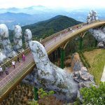 Vietnam's Golden Bridge Appeared To Be Held Up By Two Giant Hands