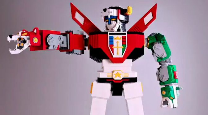 6 Feet Tall LEGO Voltron Sculpture