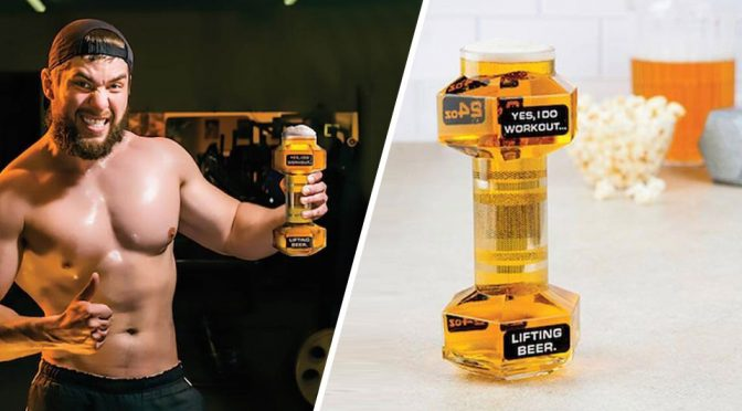 "Dumbbell Beer Glass Answers The Question Of ""Bro, Do You Lift?"""