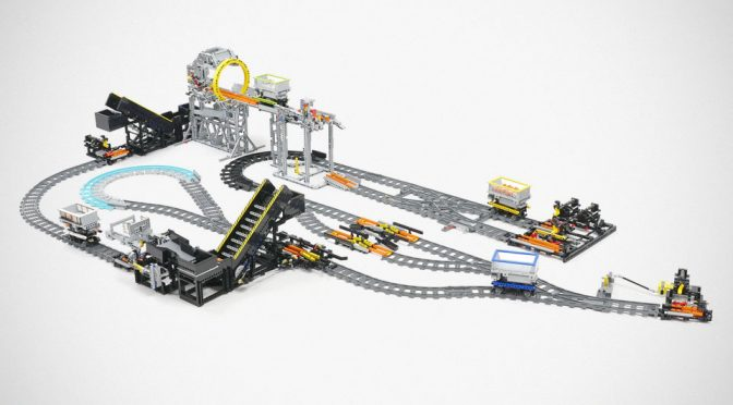 Watch This LEGO GBC Railway System In Action And Be Mesmerized