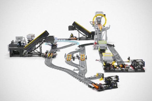Custom LEGO Technic Railway System