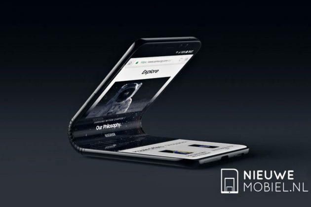 Foldable Samsung Galaxy F Concept Phone
