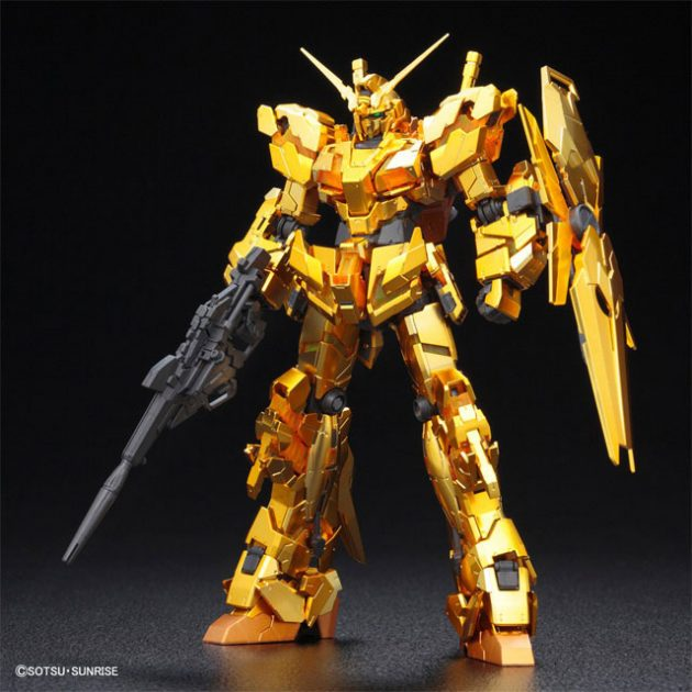 Gundam Based Limited Unicorn Gundam in Gold