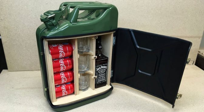 Jerry Can Mini Bar Is Just About The Manliest A Mini Bar Can Get