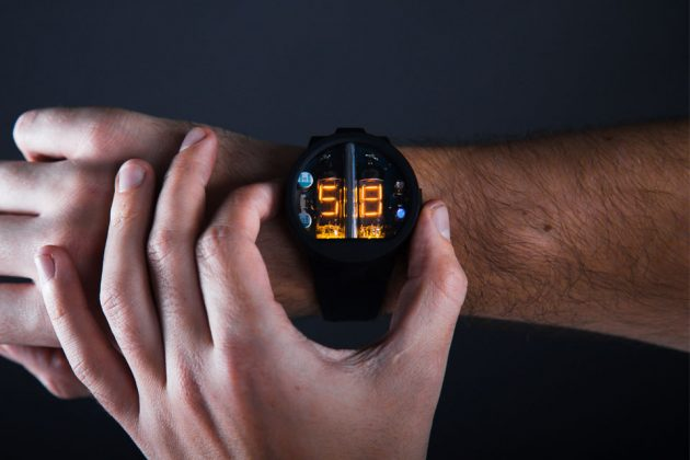 Glower Nixie Tube Wristwatch