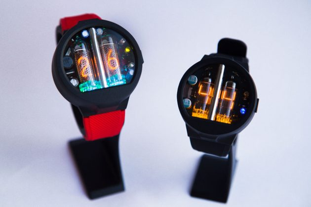 Nixoid and Glower Nixie Tube Wristwatches