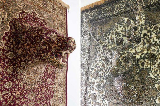 Persian Rug Animal Sculptures
