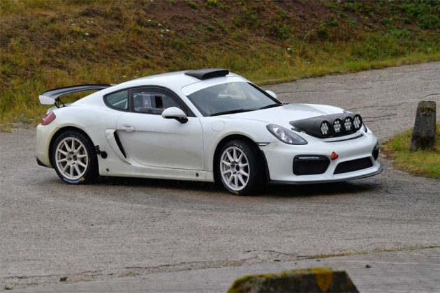 Porsche Cayman GT4 Clubsport Rally Car