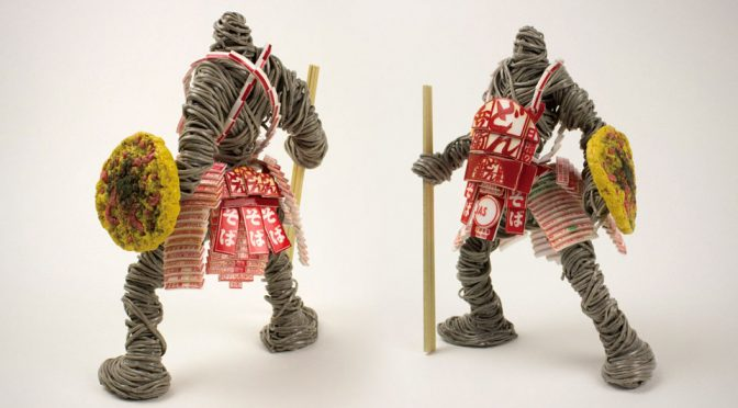 These Instant Noodle Warrior Sculptures Deserved To Be A Cartoon