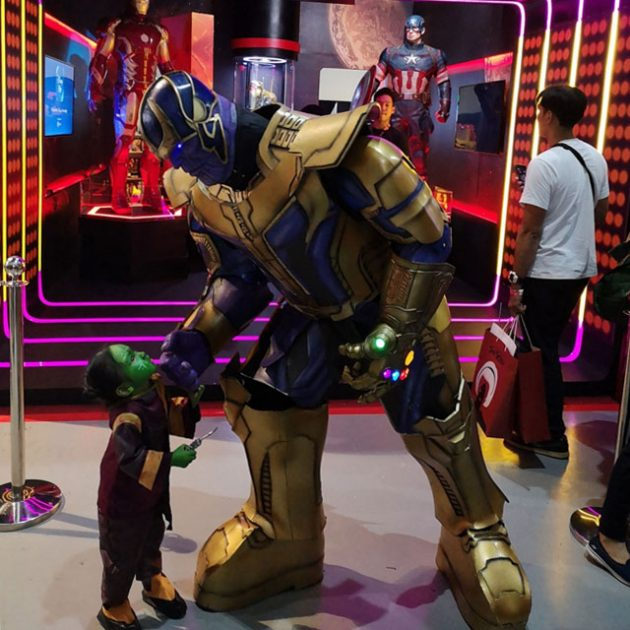 Thanos and Baby Gamora Cosplay