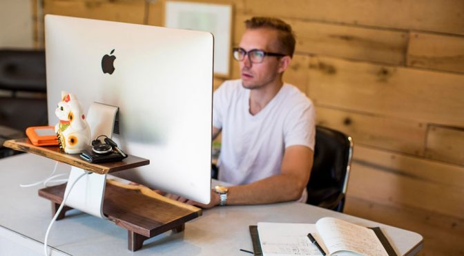 Reclaimed Wood Stand Will Add Some Welcomed Warm To Your iMac