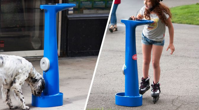 Designer Envisions People And Dogs To Drink From Fire Hydrants