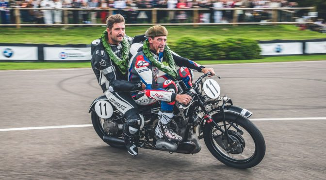 Image: Troy Corser And Herbert Schwab Astride A BMW R 57 Kompressor At Goodwood Revival
