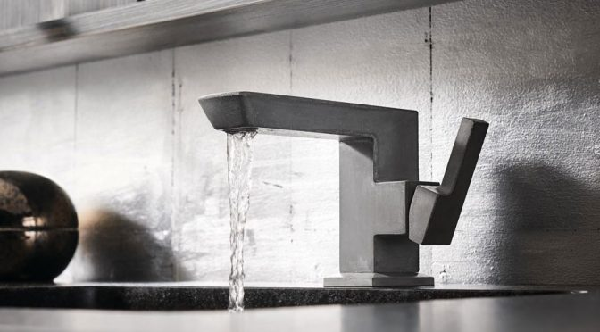 Brizo Has The First-Of-Its-Kind Concrete Faucet Money Can Buy