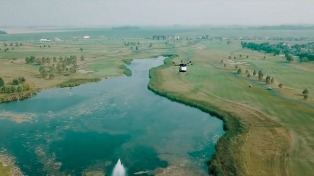 Flytrek Delivery Drone at Golf Course
