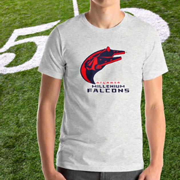 Football-Star Wars Mashup T-Shirts