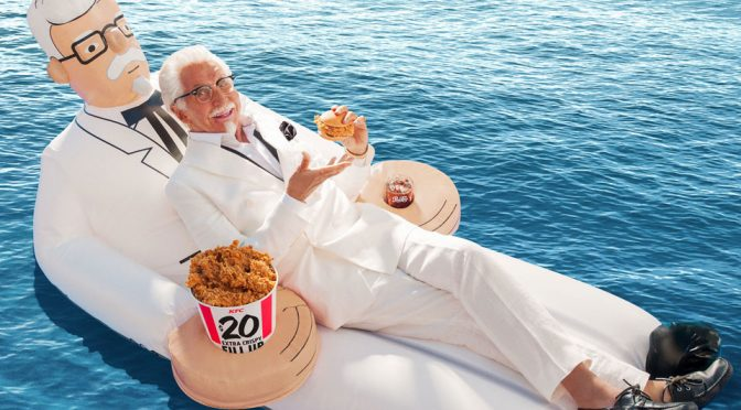Just Want To Let You Know That KFC Had A Colonel Pool Float