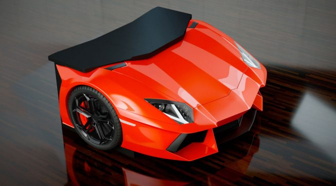 Design Epicentrum's Newest Desk  Has A Lamborghini Aventador's Front End
