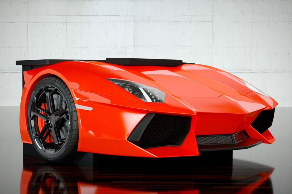 Design Epicentrum S Newest Desk Has A Lamborghini Aventador S Front