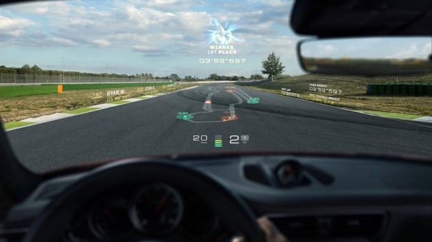 Porsche Augmented Reality Windscreen