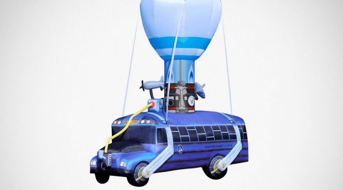 Get Into Halloween <em>Fortnite</em>-Style With This Inflatable Battle Bus