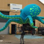 British Artist Puppeteering An Air-Powered Octopus Was Quite A Sight