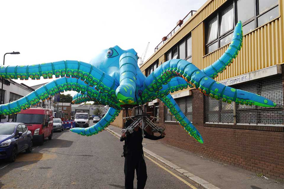 Tim Davies' Ocho Inflatable Octopus