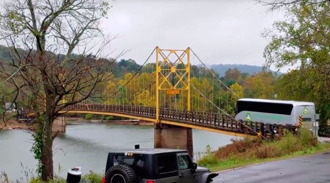 This Is What Happens When A 35-ton Bus Drives Over A 10-ton Rated Bridge
