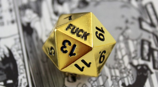 Critical Failure D20 Dice Because, When You Rolled '1', It Is Really F*@k