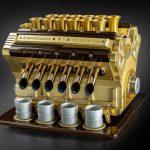 Here's A F1 V12 Engine Espresso Machine In Gold And Diamonds