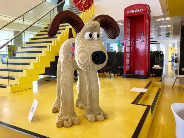 Giant LEGO Gromit Sculpture
