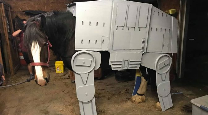 Horse In AT-AT Costume Will Make For A Perfect Trick Or Treat Companion