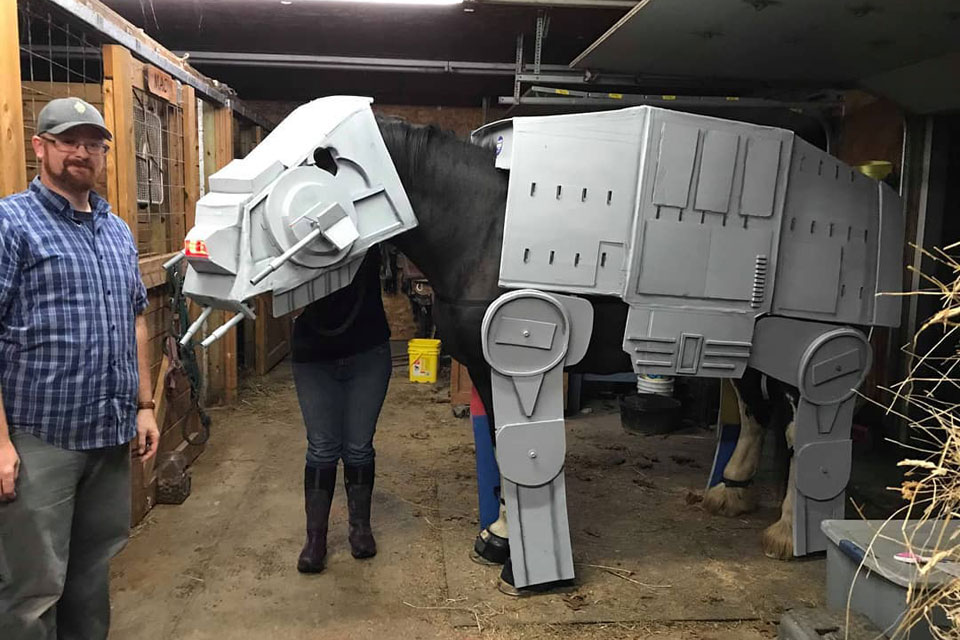 Mike's Tiny Shop Horse AT-AT Costume