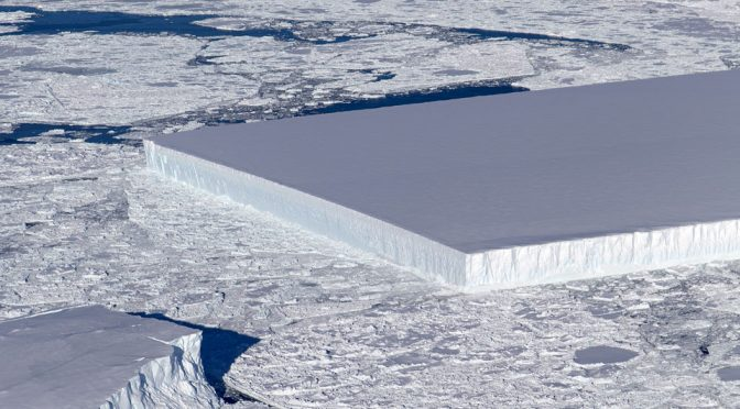 Mind Blown: Impossibly Geometric Icebergs Spotted In Antarctica