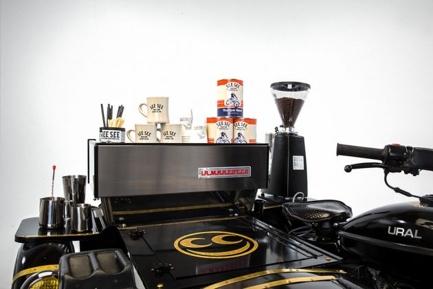 Ural Motorcycle Coffee Machine