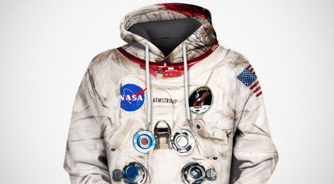 Make Yourself Feel Like A Hero With This Armstrong Space Suit Hoodie