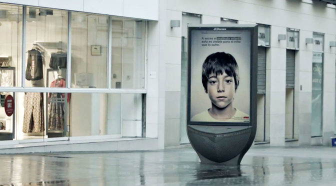 This Powerful Print Ad Has A Secret Message That Only Kids Can See