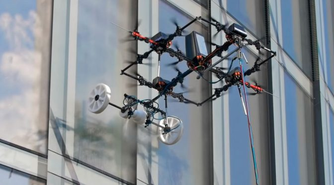 Window-Washing Drone Gets The Jobs Done Without Risking Human Lives