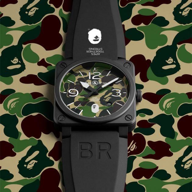 Bell & Ross x BAPE BR03-92