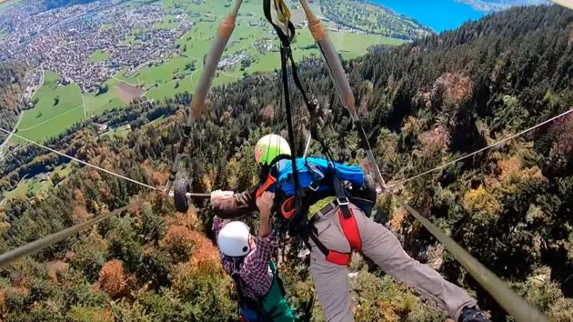 Hang Gliding Went Wrong in Switzerland