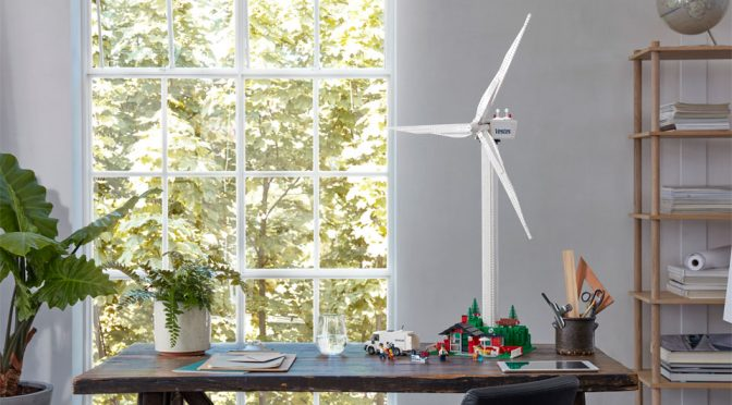 LEGO Wind Turbine Set Has Plant Elements Made From Plants