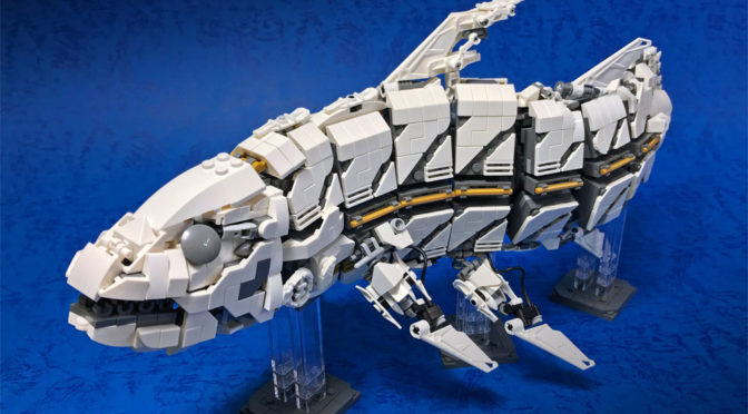 """LEGO Mecha """"Coelacanth"""" Is As Awesome As It Is Creepy"""