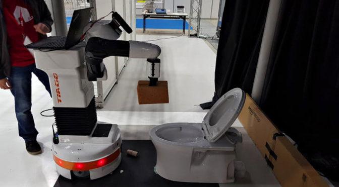 PAL Robotics Toilet Scrubbing Robot