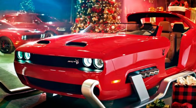 Skis-equipped Dodge Challenger SRT Hellcat Redeye Is Santa's New Sleigh
