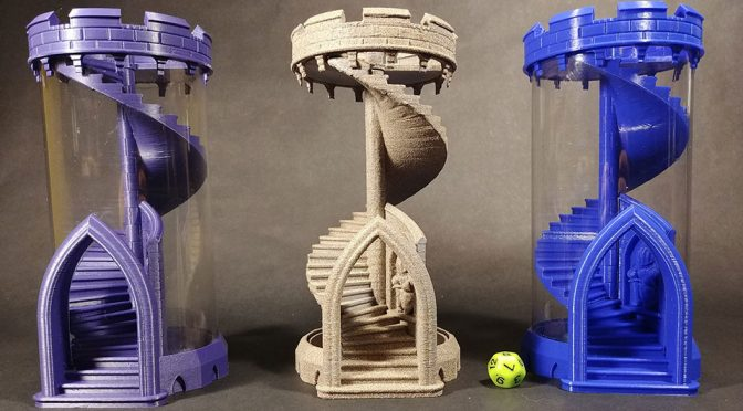 This 3D-Printed Take Of Folding Dice Tower Looks Absolutely Amazing!