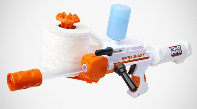 Toilet Paper Blasters Skid Shot Is When TP Meets NERF Meets Water Gun